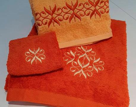 toallas carlos luna naranja